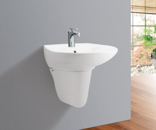 Chậu rửa mặt treo tường + chân lửng Viglacera