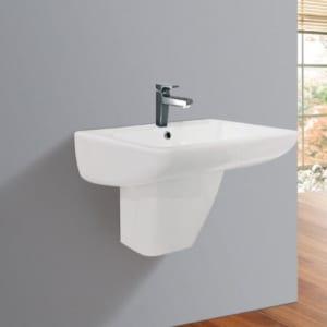 Chậu rửa mặt treo tường + chân lửng Viglacera VI61