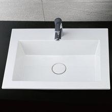 Chậu rửa mặt dương vành bàn đá CAESAR LF5017