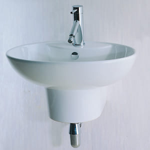 Chậu rửa mặt treo tường + chân CAESAR LF5234 - B226C
