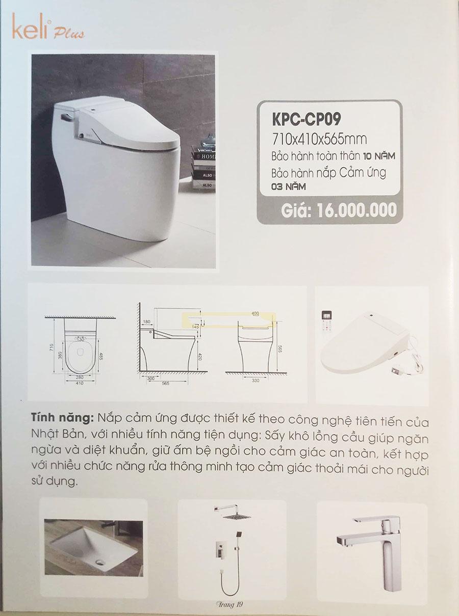 Bảng giá thiết bị vệ sinh Keli mới nhất 2020