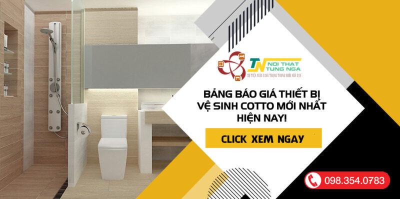Bảng báo giá thiết bị vệ sinh COTTO Thái Lan mới nhất 2022